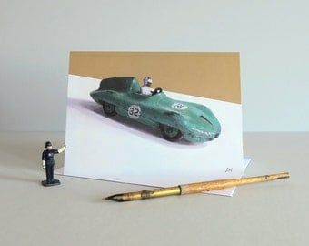 Dinky Connaught Card, Classic car card, racing car card, dinky toys card, toy cars card, vintage toys, greetings card-DINKY RACING CARS-