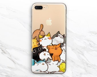 iPhone 6 case cat iPhone 5s case kawaii iPhone 5 case iPhone 7 case clear Samsung galaxy s4 Samsung s7 edge Samsung galaxy s6 iPod Touch 6