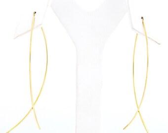 18K Gold Fish Earrings
