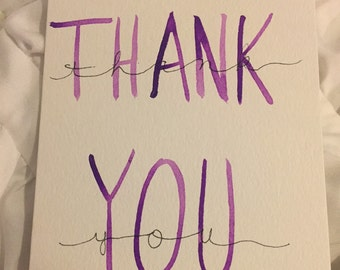3x5 Thank You Cards set of 50