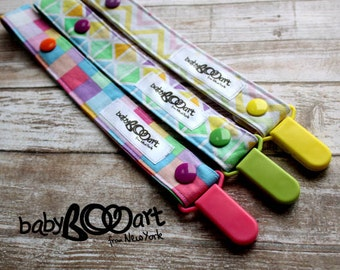 Pacifier clip | Pacifier holder | Pacifier Clip set of 3 | Dummy Clip