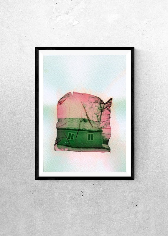 This Old House - Polaroid Emulsion Lift
