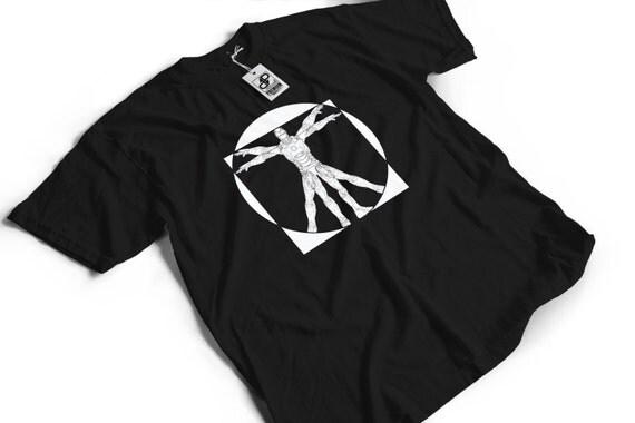 Vitruvian Iron Man T-Shirt V2