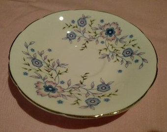 Avon Blue Blossoms Saucer