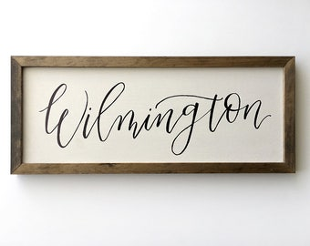 Custom Wood Sign | Framed Wall Art | Framed Wood Sign | Handlettered Sign | Custom Sign | Farmhouse Sign | Calligraphy | Rustic Decor