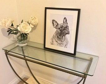 French Bulldog printed illustration 30 x 40cms (unframed)