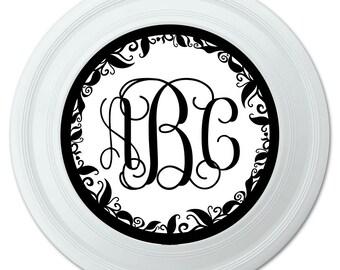 "Personalized Custom Novelty 9"" Flying Disc - Monogram Fancy Vine"