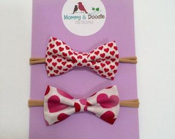 SALE Valentines Day Mini Bows