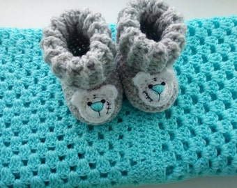Baby booties. Crochet baby booties. White booties.Baby booties baby boys Baby botties for boy .Blue baby booties boots for boys