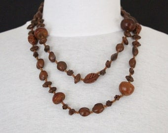 Vintage Nuts necklace, without closure * free shipping *