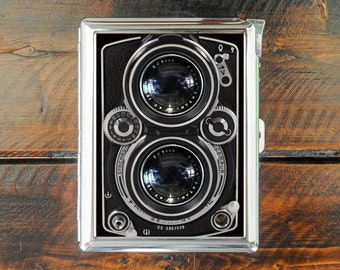 cigarette case CAMERA vintage wallet card money holder cigarettes box