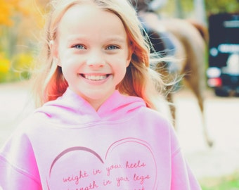 Bad Pony Clothing Heart Hoodie for Kids