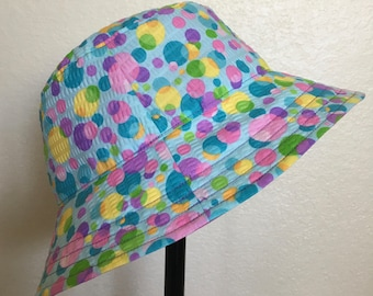 Tutti Frutti Summer Dots Bucket Style Sun Hats for Babies and Kids!