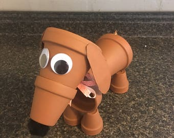 Made to Order Clay Pot Dachshund