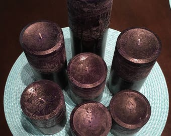 Deep Purple Pillar Candles