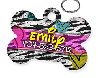 1990s Throwback Custom Personalized Pet Tag for Dog
