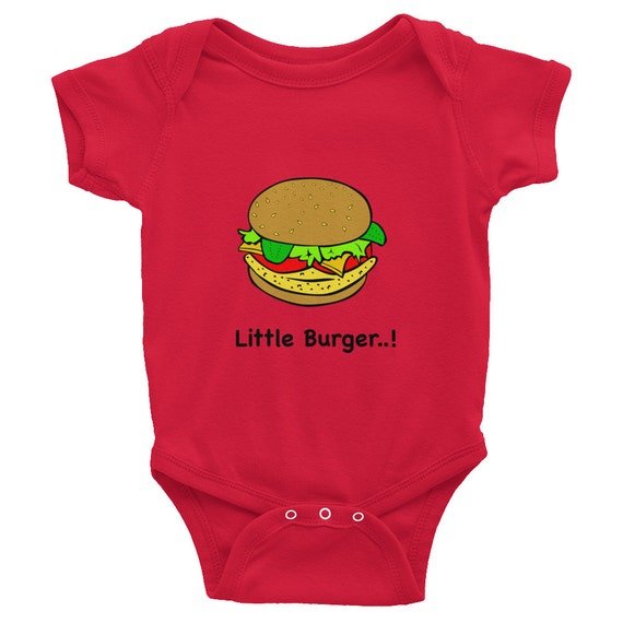 New born Baby body suit, ShortSleeve Baby Rib, Infant Baby Rib, Unique Baby Rib, Custom outfit Personalized Bodysuit gift, burger tshirt