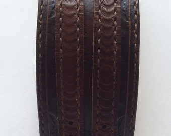 Leather Tooled WristBand  Traditional American Cowboy techniques