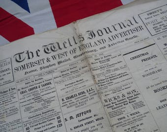 Super Somerset Vintage Newspaper. The Well's Journal 1916