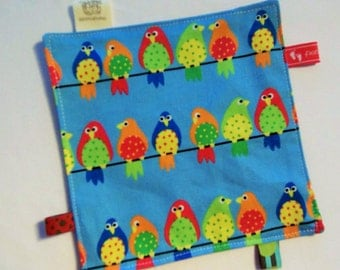 Details on Crackle cloth blanket baby game cloth motor cloth colourful birds with motifs