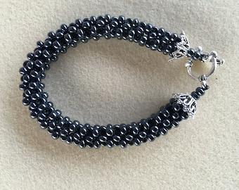 Black Seed Bead Elegance