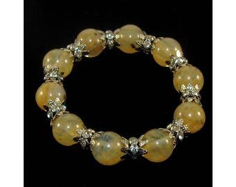 Citrine bracelet (handmade)(B15-15)