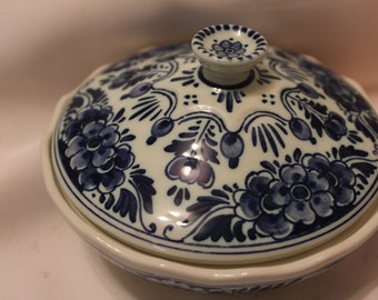 Home Decor- Lovely Delft Signed Candy Dish Made in Holland
