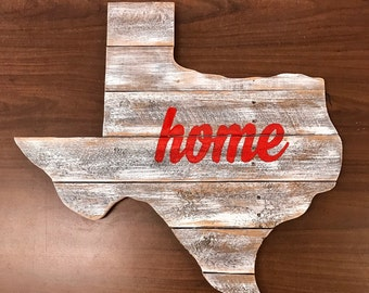 Rustic Home Texas Sign