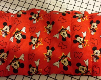 Mickey Mouse Microwave Cherry pit, Rice or Flax Seed Heating / Cooling Pad Essential oils added on request