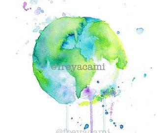 World by Freya Cami - A4 Print