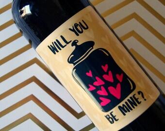 Valentine's Day Gift, Wine Label, Valentine, Valentine Wine Label, gifts for her, Custom Wine Label, Personalized Wine Label, Wine Label