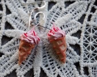 Earrings ice the Italian fimo - fancy