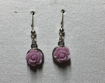 Purple and silver roses