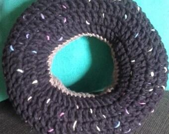 Donut crochet cushion small