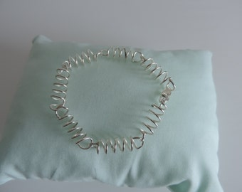 Sterling Silver Coiled Wire Bracelet
