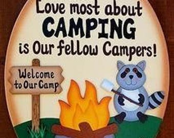 Welcome to Our Camp Camping Sign