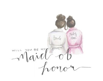 Will You Be My Made of Honor Card