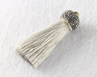 Tassels DIY Craft Supplies gray Jewelry tassels Chunky tassel Short Boho tassels Small tassels Fringe Trim Womens Gift