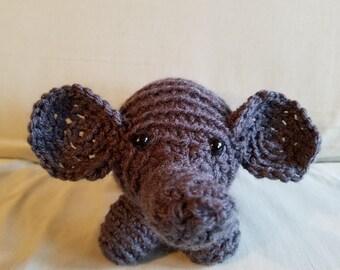 Grey Crocheted Elephant