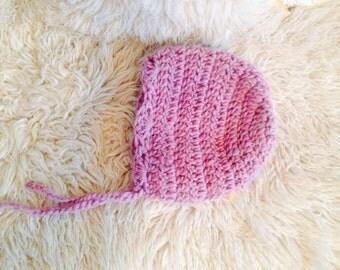 Purple girls wool bonnet