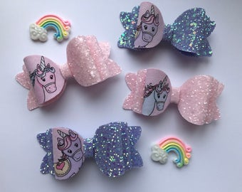 Unicorn, sparkle hair bow