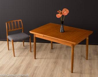 TEAK dining table, table, 60s, vintage (702006)