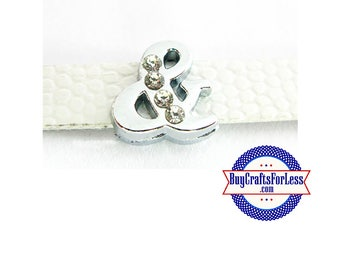 Rhinestone AMPERSAND (&) for 8mm SLIDE Bracelets, Collars, Key Rings +FREE Shipping / Discounts*