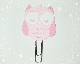 Paper clip-shaped petithibou. lovely baby owl paperclip