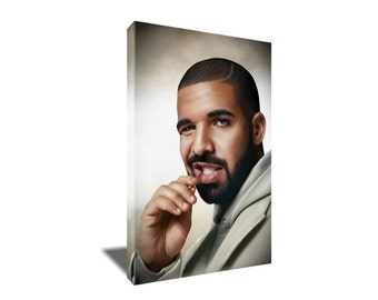 FREE SHIPPING Hip Hop Star Rapper Multi Talented Drake Canvas Art