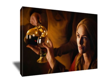FREE SHIPPING Cersei Lannister More Wine Canvas Art