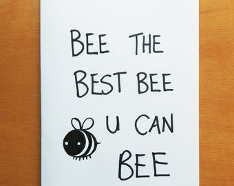 Bee - Handmade card