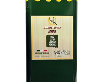 Medium fruity extra virgin olive oil Monocultivar 100% Italian Coratina 10Lt