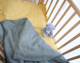 Baby Linen Bedding, Linen duvet cover + Pillowcase + Fitted Sheet, Baby in linen