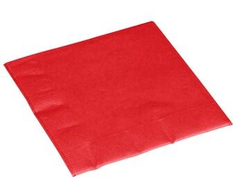 50-100 Red Beverage Disposable Napkin, Napkins, Wedding Napkins, Beverage Napkins, Wedding, Party, Wedding Supplies, Party Supplies
